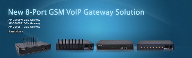 Still Body 8-Port GSM Gateway Solution | AddPac